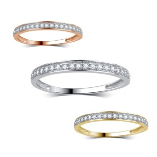 Divina 10k Gold 1/5ct TDW Diamond Wedding Band .