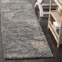 "Safavieh Florida Shag Grey / Beige Runner - 2'-3"" x 11'"