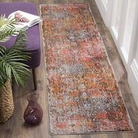 Safavieh Vintage Persian Brown/ Multi Distressed Runner Rug (2' 2 x 12')