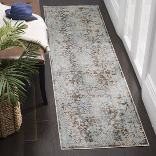 Safavieh Vintage Persian Brown/ Light Blue Distressed Runner Rug (2' 2 x 12')