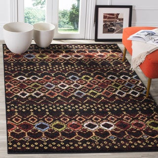 Safavieh Amsterdam Bohemian Black / Multicolored Rug (4' x 6')