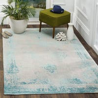 Safavieh Classic Vintage Turquoise Cotton Abstract Distressed Rug - 4' x 6'