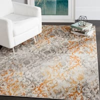 Safavieh Madison Vintage Cream/ Orange Distressed Rug - 4' x 6'