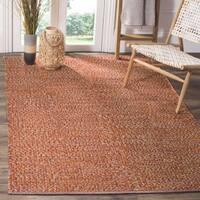 Safavieh Hand-Woven Montauk Flatweave Orange / Multicolored Cotton Rug - 6' x 9'
