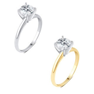 Divina 14k Gold 1ct TDW Diamond Solitaire Engagement Ring.