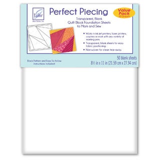June Tailor Perfect Piecing White Paper Quilt Block Foundation Sheets (Pack of 50)