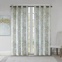 The Grey Barn Yturria Blue Cotton Printed Paisley Curtain Panel
