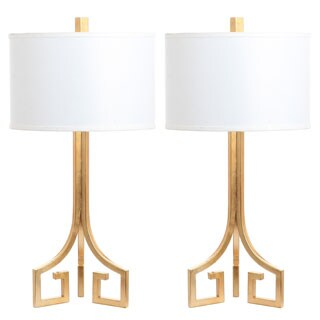 Safavieh Lighting Arabelle Hardback 27-Inch Gold Table Lamp