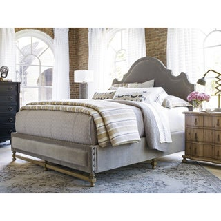 Lyon Grey Cloud Upholstered Bed