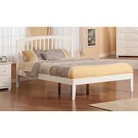 Richmond Queen Size Open Foot Platform Bed in White