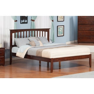 Atlantic Mission-style Walnut-finished Wood Open-foot King Bed