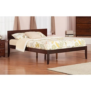 Atlantic Orlando Walnut King Open-foot Platform Bed