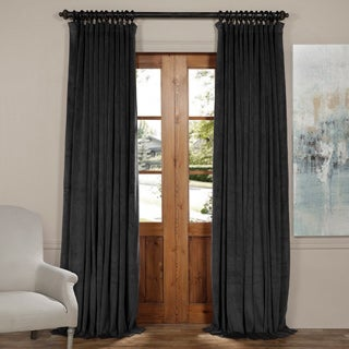 Exclusive Fabrics Signature Doublewide Blackout Velvet Curtain Panel
