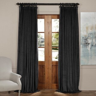 Exclusive Fabrics Signature Doublewide Blackout Velvet Curtain