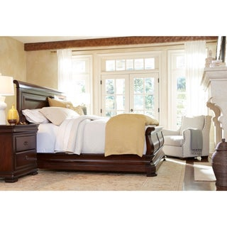 universal louie ps classic cherry sleigh bed