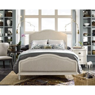 Universal Off-white Linen-upholstered Amity Bed