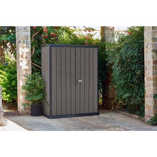 Keter High Store Dark Grey Resin Wood Look and Feel Outdoor Garden Storage Shed