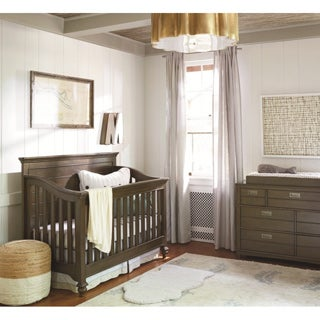 Universal Brown Wood/Metal Convertible Crib