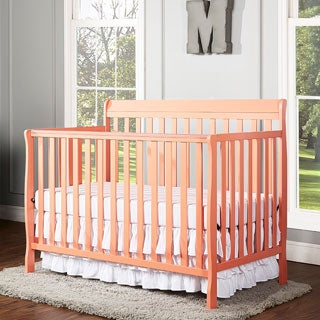 Dream On Me Alissa Fusion Coral 4-in-1 Convertible Crib - Orange
