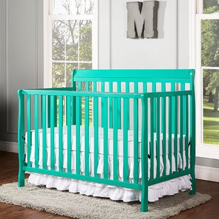 Dream On Me Alissa Green Wood Convertible 4-in-1 Crib