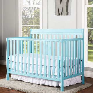 Dream On Me Alissa Blue Wood Convertible 4-in-1 Crib
