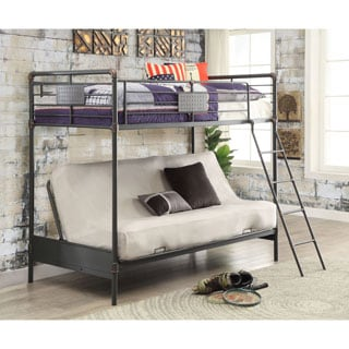 Furniture of America Herman Industrial Antique Black Twin/Futon Loft Bunk Bed