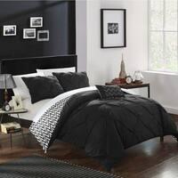 Chic Home 4-Piece Erin Black Comforter Set