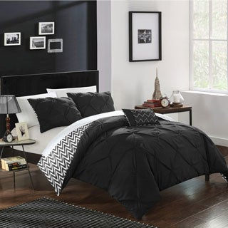 Chic Home 8-Piece Erin Bed-In-A-Bag Black Comforter Set