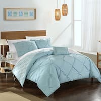 Chic Home 8-Piece Erin Bed-In-A-Bag Blue Comforter Set