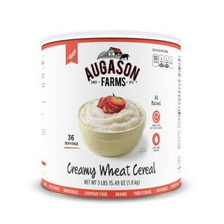 Augason Farms Creamy Wheat Cereal 65-ounce #10 Can