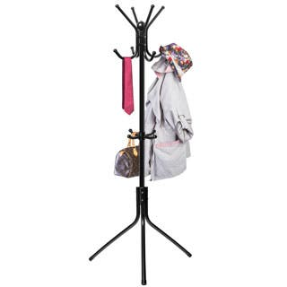 Oxgord Coat And Hat Black Metal Rack Hook Organizer Stand