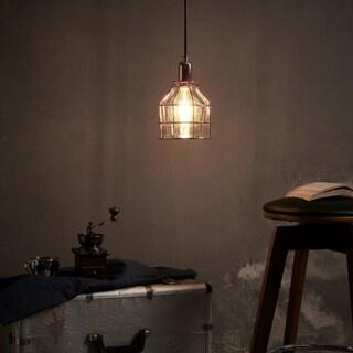 Versanora Bellezza Rose Goldtone Finish Metal Pendant Lamp Cage