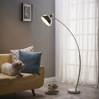 "Versanora - Arco Arc Floor Lamp, Chrome Shade, 61""H"