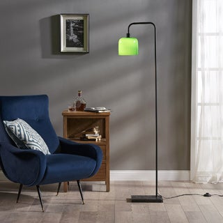 Teamson Versanora-Chiara Green-finish Marble Base Floor Lamp