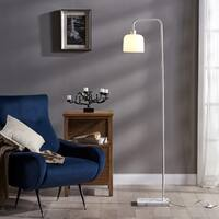 Teamson Versanora Chiara White Metal Floor Lamp