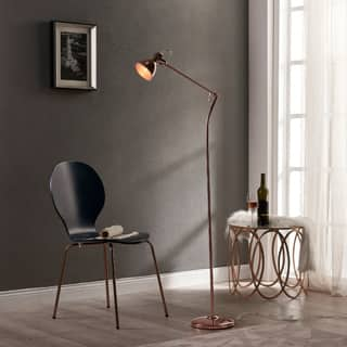 Versanora Passione Rose Gold Finish Floor Lamp|https://ak1.ostkcdn.com/images/products/P19604320p.jpg?impolicy=medium