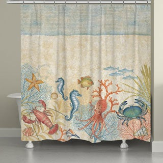 Laural Home Sea Creatures Shower Curtain