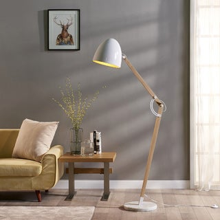 Teamson Versanora Bastone Floor Lamp with White Shade