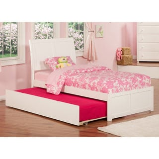 Portland White Panel Twin-size Bed with Trundle Bed