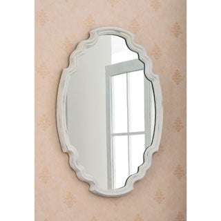 Theater White 25-inch Wall Mirror - Antique White
