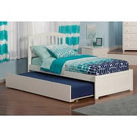 Richmond Twin Flat-panel White Urban Trundle with Footboard