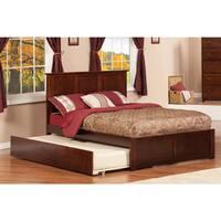 Atlantic Madison Walnut Flat-paneled Full Bed With Footboard and Urban Trundle
