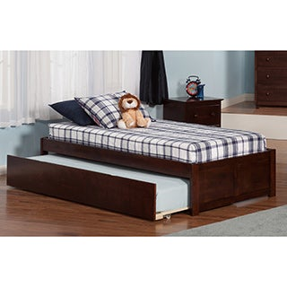 Concord walnut twin bed with urban trundle free shipping for Urban home beds