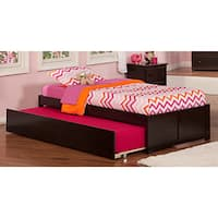 Atlantic Concord Espresso Twin-size Bed with Urban Trundle