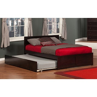 Orlando Full Flat Panel Foot Board with Urban Trundle Espresso