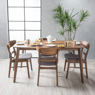 Idalia Mid Century 5 Piece Rectangle Dining Set By Christopher Knight Home