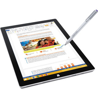 Microsoft 12-inch 256GB Surface Pro 3 Multi-Touch Tablet (Silver)