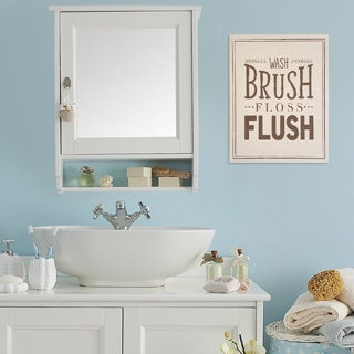 Stratton Home Decor 'Wash Brush Floss Flush' Wall Art