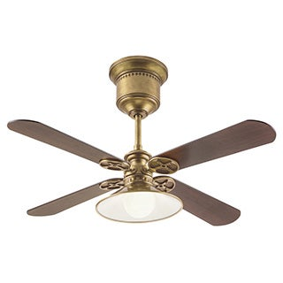 Kichler Transitional 52-inch Natural Brass Ceiling Fan with Light and Reversible Fan Blades