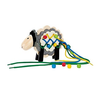 Early Explorer Stringy Sheep Wooden Lacing Toy